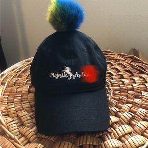 Accessories - Novelty Pom hat (majestic AF) with unicorn OSFM
